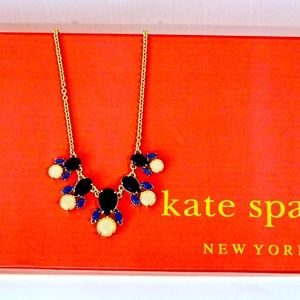 KATE SPADE~multi-color~STONE COLLAR NECKLACE~BLUE